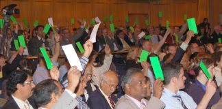 A section of the delegates at the Torquay  conference