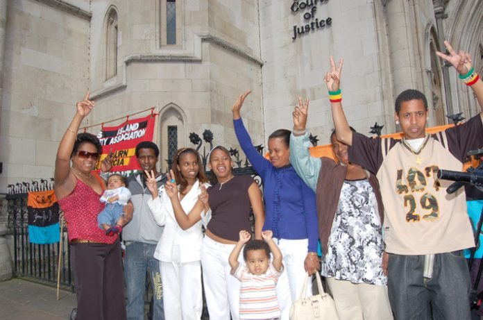 Chagos Islanders at the Court of Appeal on May 23rd when it found for their appeal to return to a part of the Chagos Islands