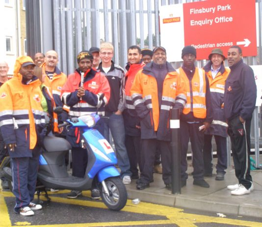 There was a strong and lively picket line on the last day of strike action on June 29th at Finsbury Park