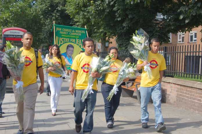 Friends and relatives of Jean Charles marched to Stockwell