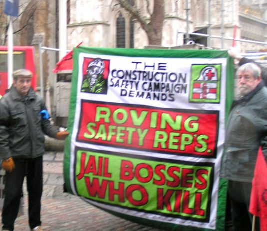 Construction Safety campaigners with a clear message