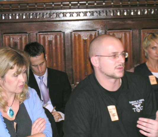 Polish migrants gave a press conference with the TGWU trade union at the House of Commons in December 2005 about gangmasters'