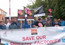 Remploy workers and supporters campaigning in Brixton yesterday