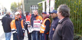 CWU pickets at Hornsey Lane Delivery Office on Friday morning