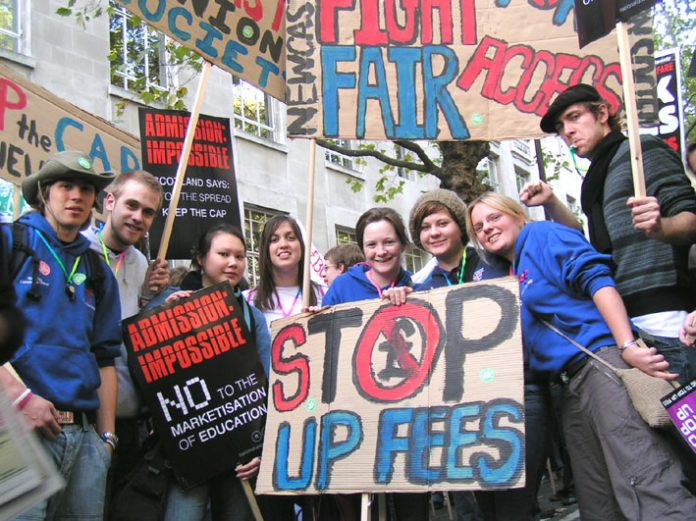 NUS members from Newcastle on last October's national demonstration against fees