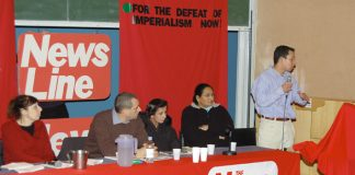 ALEX PEREIRA, cousin of Jean Charles de Menezes,  addressing the News Line Anniversary Rally on Sunday