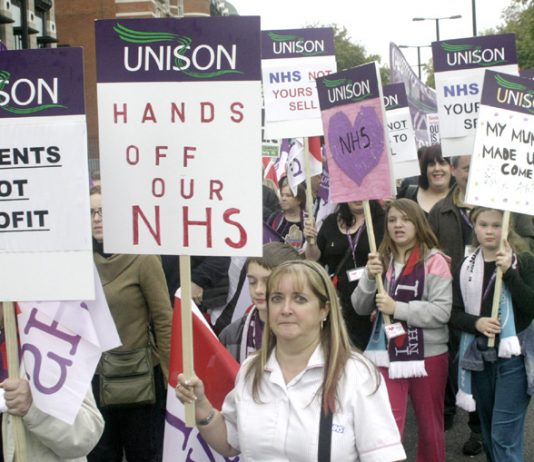 UNISON members and their families marching on the 'NHSTogether' demonstration on November 3rd in London – will not accept  pay increases of only two per cent for three years