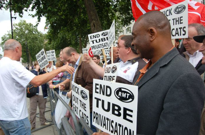 The RMT has consistently fought to stop the  privatisation of the Rail network in Britain