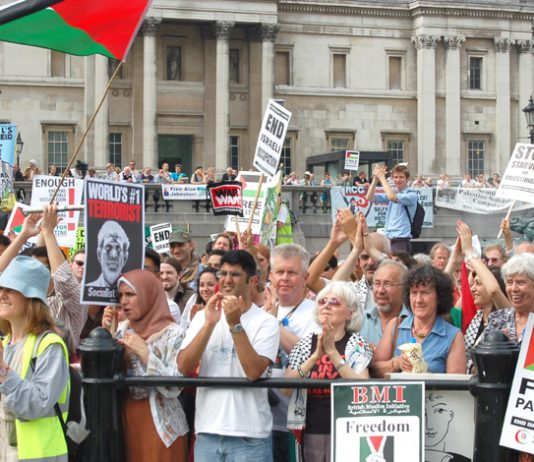 London demonstration last June in support of the Palestinian struggle