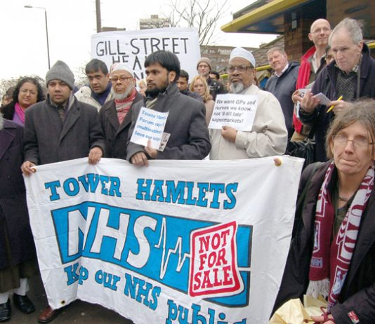 'NHS – not for sale' – said one of the banners on Thursday's demonstration