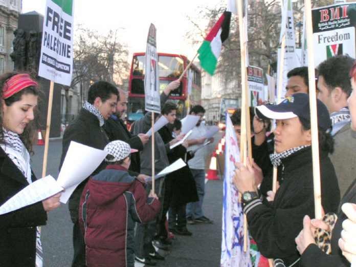 The names of Palestinians who have died because they could not leave Gaza to get medical treatment were read out at the picket