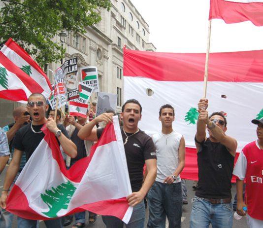 London demonstration on July 22 last year against the Israeli bombing of Lebanon