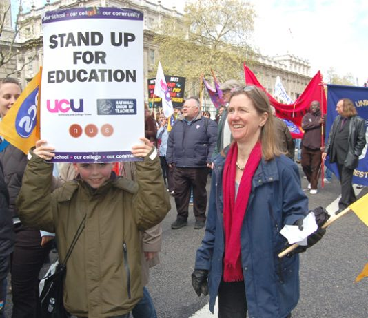 PCS and UCU members took strike action on the same day as teachers last month, as the public sector anger over pay cuts erupted
