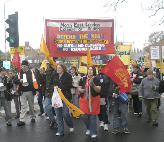 Last November's 3,000-strong march through Enfield organised by the Council of Action to keep Chase Farm Hospital open