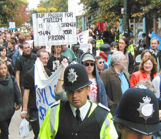 Demonstration in Crawley against the building of an Immigration Removal Centre near Gatwick Airport
