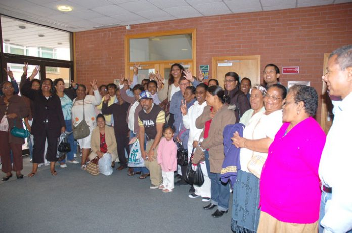 Delegation from the Chagos Islands Community Association at the TUC in Brighton on Wednesday