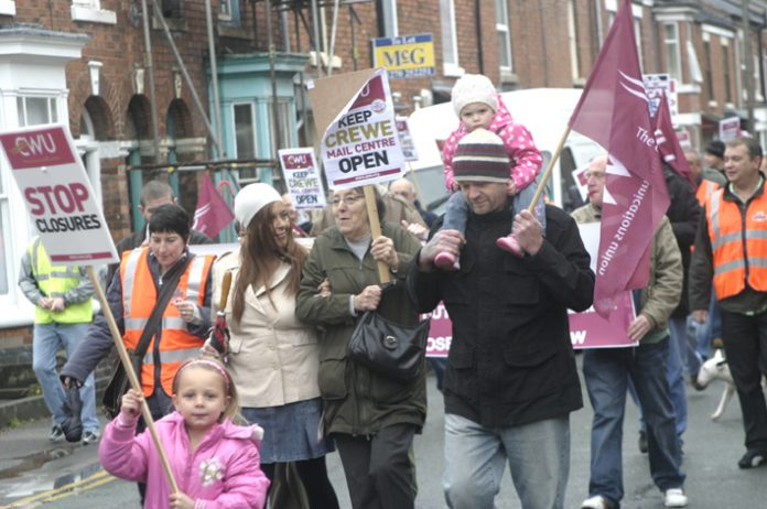 Whole families turned out to save Crewe Mail Centre – more pictures in photo gallery