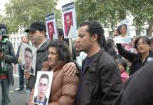 Relatives of Jean Charles de Menezes outside Downing Street recently to protest over his