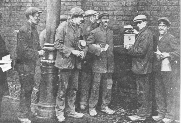 Miners ballot for strike action in 1912