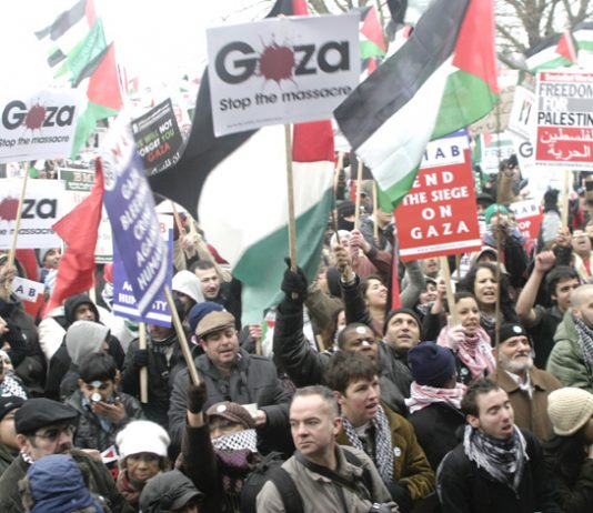 Hamas's struggle has the support of the vast majority of UK workers –over 200,000 marched last Saturday to the Israeli embassy