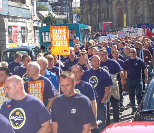 Clear message from firefighters: 'Cuts cost lives'