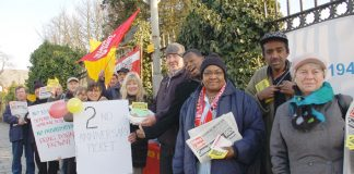 Pickets determined to keep open Chase Farm Hospital