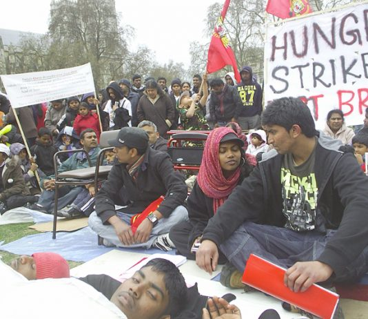 Tamil students are continuing their hunger strike to demand an end to the genocide in Sri Lanka