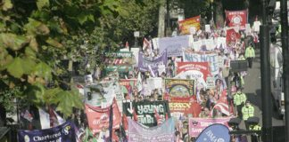 'NHSTogether' mass demonstration on November 3rd 2007 against privatisation in the NHS