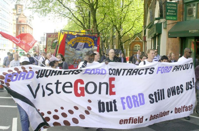 Visteon sacked workers on the march, they insist they are winning their struggle