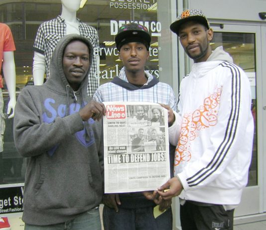 WIL, MOHAMMED and RICARDO, three unemployed youth were fully in support of the defence of GM Luton jobs by an occupation