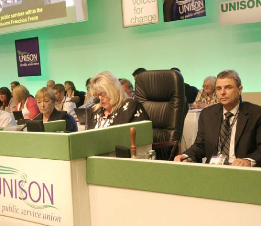 Unison leader prentis (right) pledged to establish a public sector alliance to fight all cuts