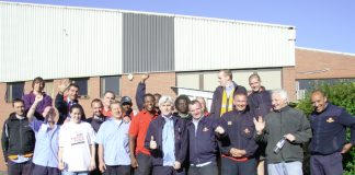 Pickets at Shepherds Bush Delivery Office – determined to defend jobs and conditions