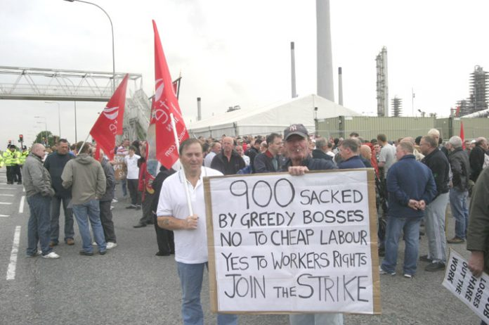 Workers at the Lindsey power station were urging workers to join the strike movement to stop union-busting bosses