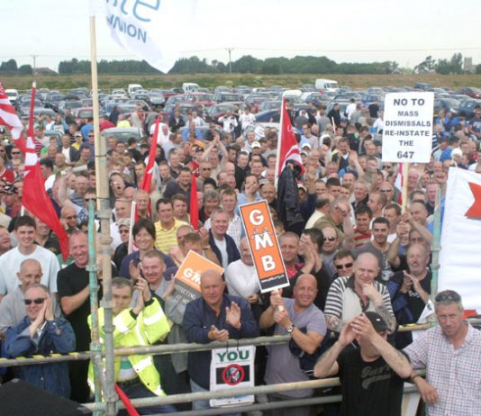 Reinstate sacked Lindsey workers, demands the mass rally