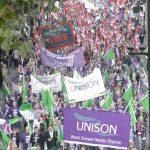 NHSTogether demonstration in November 2007 against NHS privatisation
