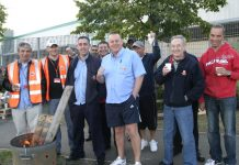 CWU pickets at the East London Mail Centre called for national strike action