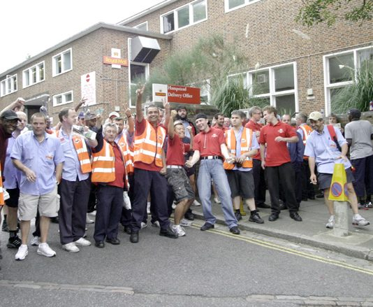 Jubilant Hampstead postal workers walked out on strike together at 9.00am Saturday