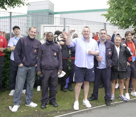 There were a large number of pickets at the East London Mail Centre in Bow on Friday morning