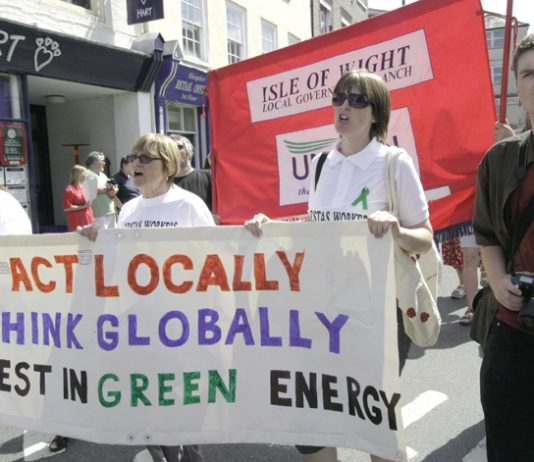 Vestas wives and girlfriends demand green jobs