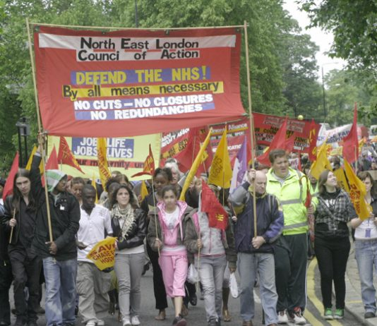March in Enfield in June against the closure of Chase Farm Hospital