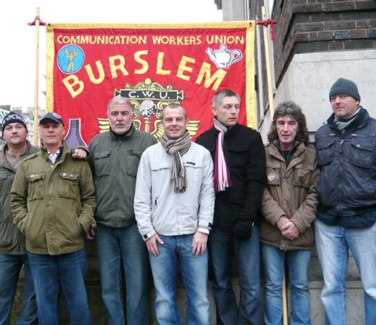 Stoke CWU members from Burslem were victimised earlier this year – Stoke CWU is out indefinitely