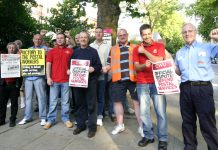 Striking CWU members in Hampstead, north west London, were in fighting mood yesterday