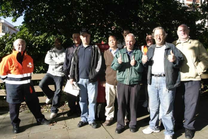 Hampstead CWU pickets on Saturday morning were confident of winning