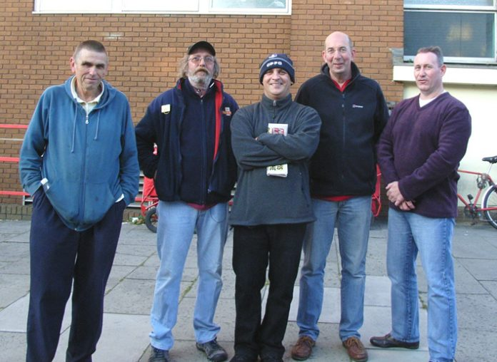 CWU strikers on the picket line at the Wimbledon Delivery Office