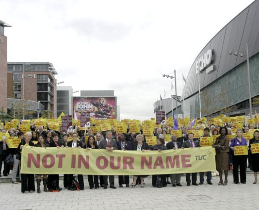 A silent vigil by TUC Congress delegates yesterday midday to remember Anthony Walker who was murdered by racists and to show Congress's disapproval of the election of a BNP MEP