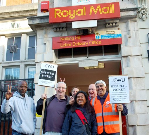 CWU members in Notting Hill determined to win