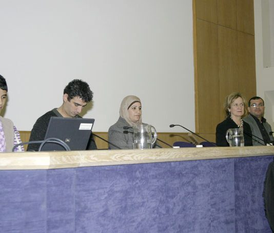 MOHAMMAD, his translator, his mother SOMAYA., HELENA KENNEDY, ABDEFATTAH ABUSROUR and GERARD HORTON