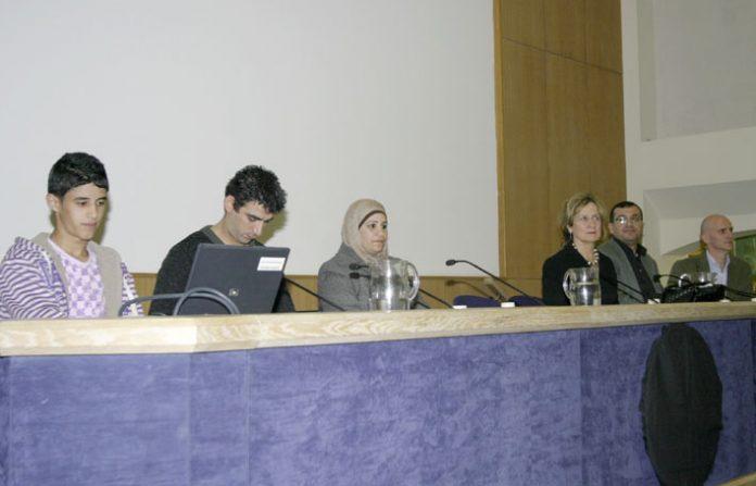 MOHAMMAD, his translator, his mother SOMAYA., HELENA KENNEDY, ABDEFATTAH ABUSROUR and GERARD HORTON