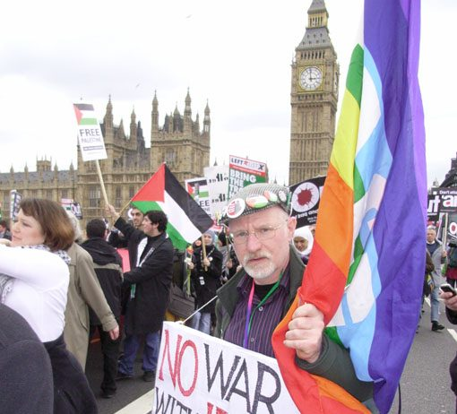 Marchers in London in March 2008, the fifth anniversary of the launch of the war on Iraq, demanding no attack on Iran