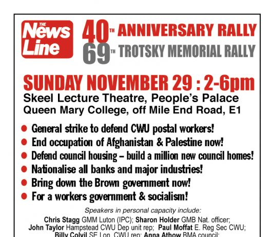 NEWS LINE ANNIVERSARY RALLY – Sunday November 29th